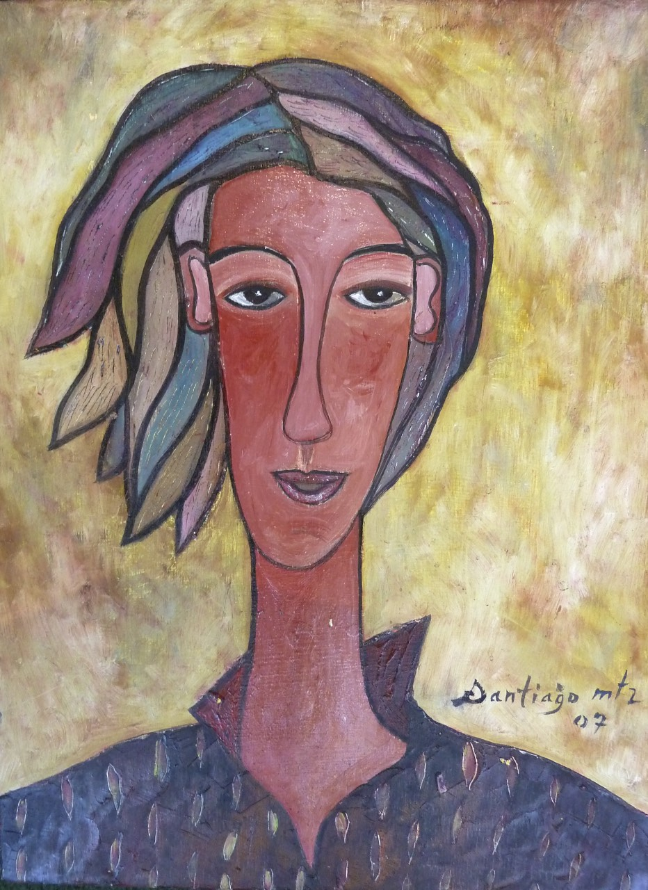 """Portrait of a Young Mother, acrylic on panel. 12""""x16"""". $900."""