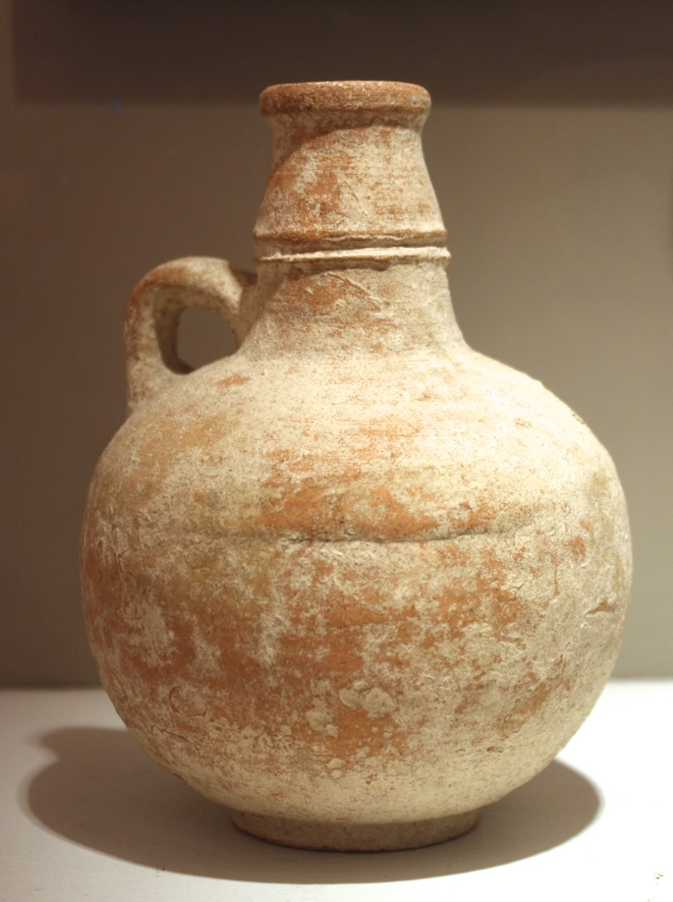 Ancient Terra Cotta Jug w/ Handle, Israel Iron Age I 2000 BC, $2600.