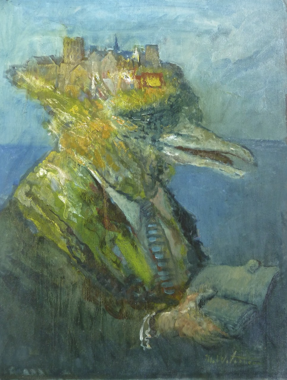 """Reading Gull, oil on canvas, 18""""x24"""",$3500."""