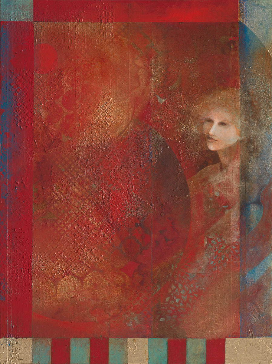 "La Fenice, mixed media acrylic on panel. 30""x48"". $5,500."
