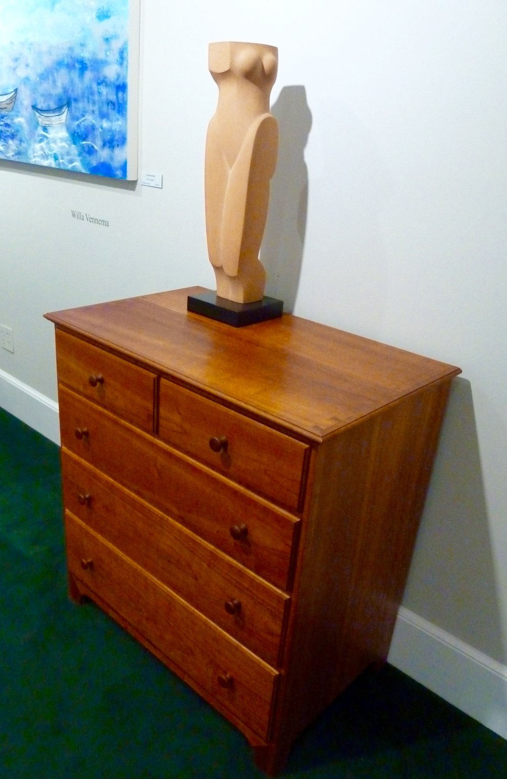Shaker Style 5 drawer chest,  Cherry.  $7700.