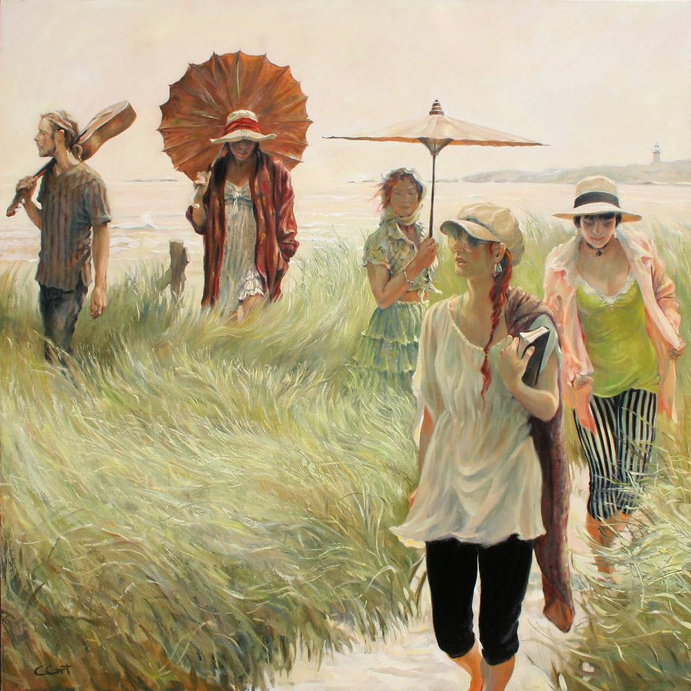 Summer Entourage,  52x52.