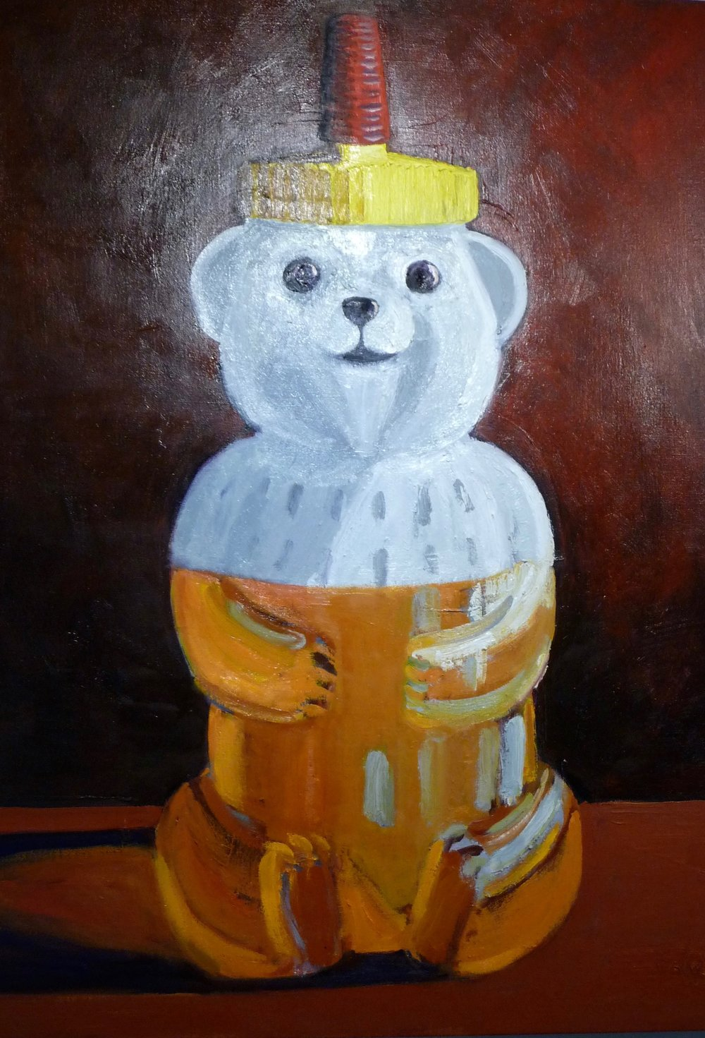 Honey Bear, oil on linen, 30x40.