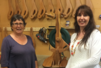 Visiting Glynis at the Majacraft workshop in Tauranga New Zealand in February 2016.