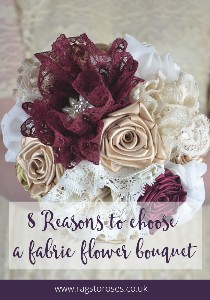 reasons to choose fabric flower bouquet alternative wedding flowers