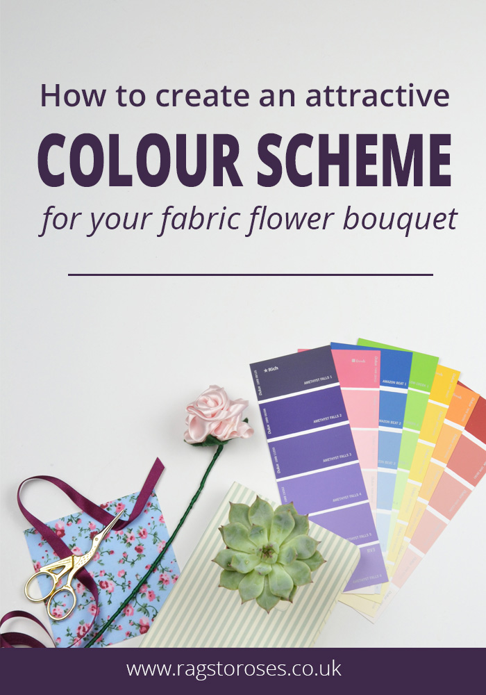 how to choose an attractive colour scheme for your fabric flower bouquet