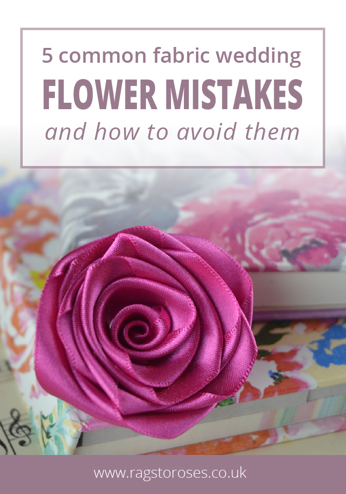 5 common fabric wedding flower mistakes and how to avoid them