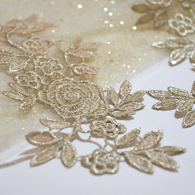 I'm currently working on a bouquet that I'm going to be adding this gorgeous lace appliqué to.  I can't wait to see how this one turns out! . . . . . #gold #goldlace #laceapplique #workinprogress #craftsupplies #laceflowers #goldapplique #soloverly #sopretty #flowersofinstagram #weddinginspiration #alternativeweddingflowers #alternativeweddingideas #sparkles #prettylittlething #nothingisordinary #calledtobecreative #flashesofdelight #makersmovement #exeterflowers #exeterweddingflowers #exeterweddingflorist #inthestudio #waketomake #lace #thatsdarling #handmadewedding #handmadebouquet #goldwedding #creativityfound