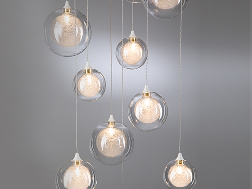 Glass ball chandelier -