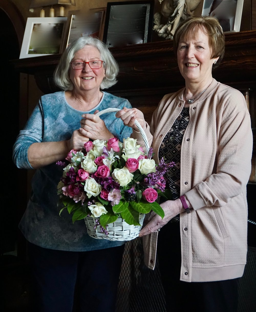From left, Mrs Shirley McKnight and Mrs Yvonne Hall
