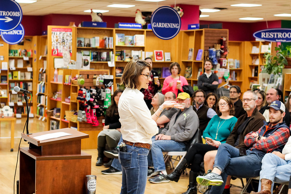 Book reading + signing at Book People in Austin, Texas