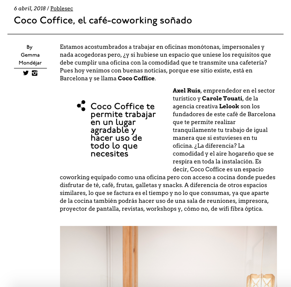 Coco Coffice, the coffee-coworking dreamed