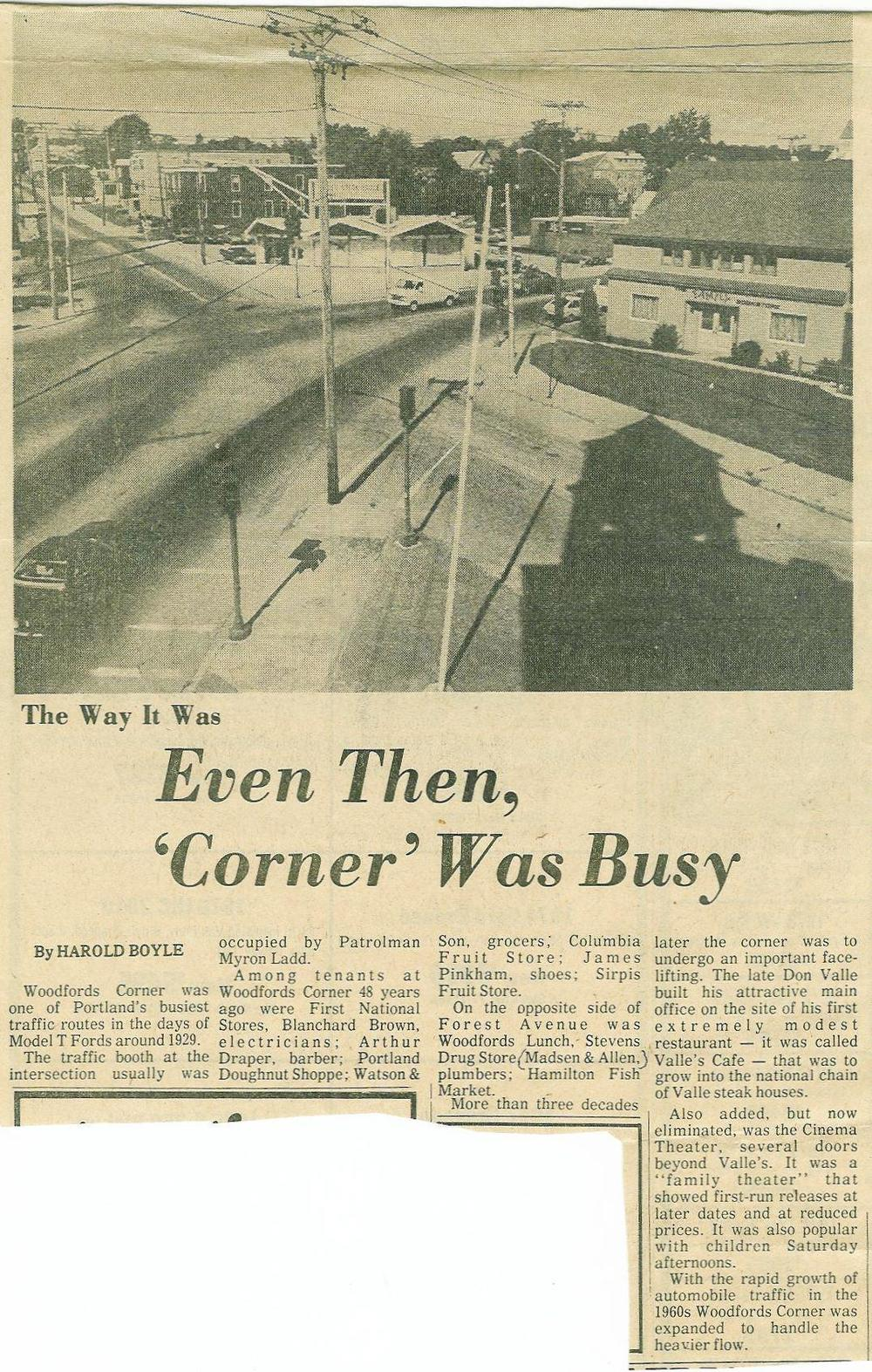 Article from 1977 about the traffic challenges of WC.