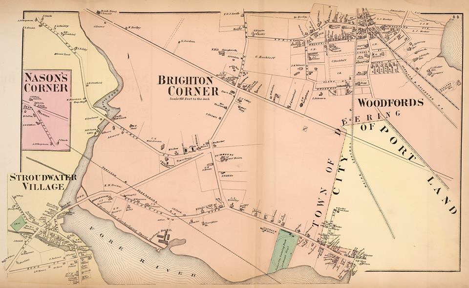 Map of the Town of Deering, 1871