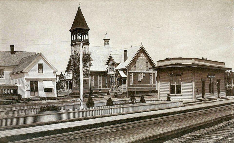 Clark Memorial and Train Stop, 1883