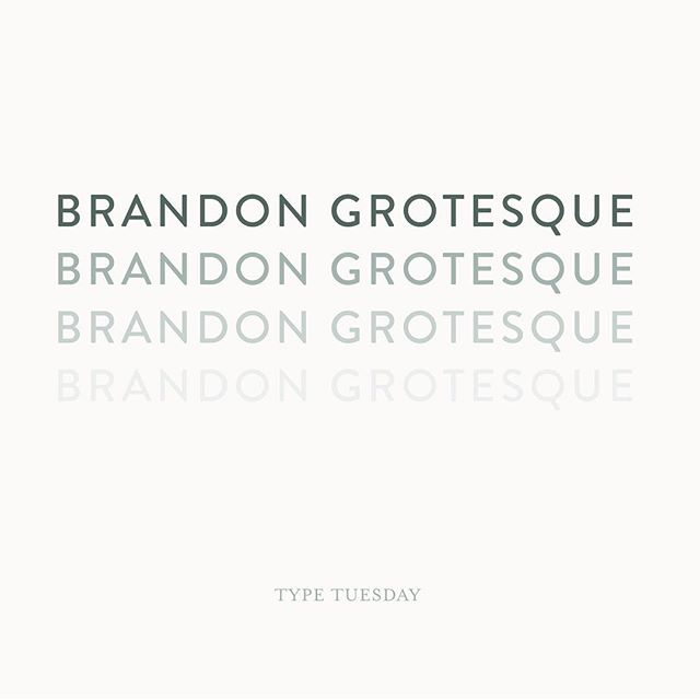 Brandon Grotesque. its been a while since i shared favorite type! This family font are sans serif with modern, clean look, great to use for websites specially ones like agency, portfolio websites typography#typetuesday