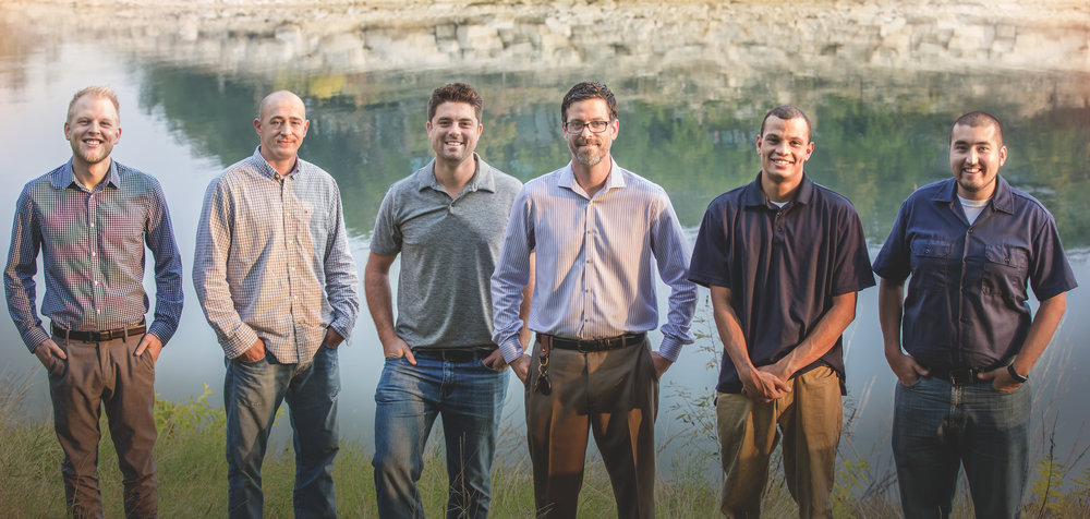 Colter MacKenzie (Systems Design), Casey Lee James Kennedy (Pre-Construction), Matt Hawkey (Configurations Design & Manager), Peter Sandford (Founder), Alex Brown (Post Construction), Andrew Mason (Programming & Maintenance)