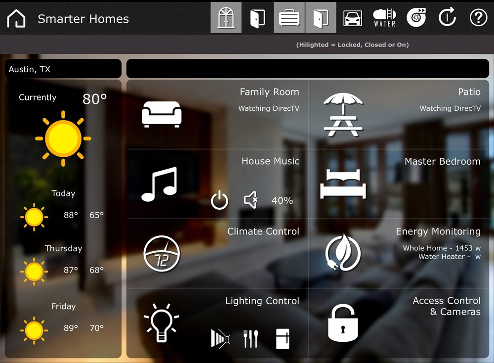 Austin Home Automation on IPad