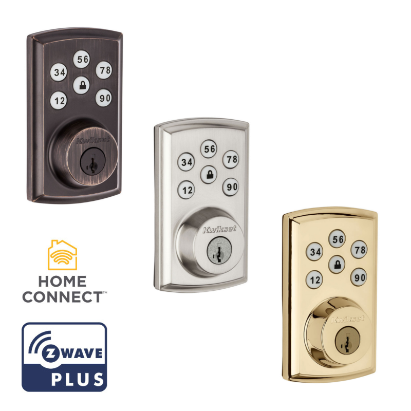 Benefits   of Keyless Entry & Remote   Locking  . Getting into your home with an armful of groceries is easy with the   Kwikset Z Wave   Door   Lock  . These   locks   feature keyless entry. ... When someone else needs to get in, you can give them access, because the   Kwikset Z Wave   Door   Lock  allows for up to 30 user codes.
