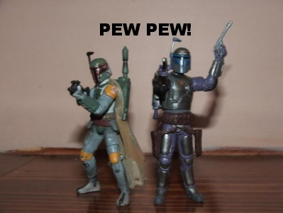 I feel silly Dad - Shut it! We're cool! Pew pew!!