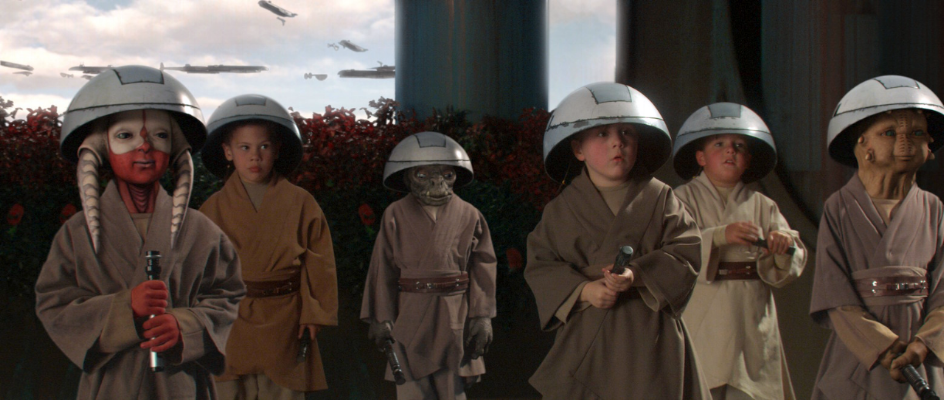 Their hats alone make them targets for bullies . . . with lightsabers