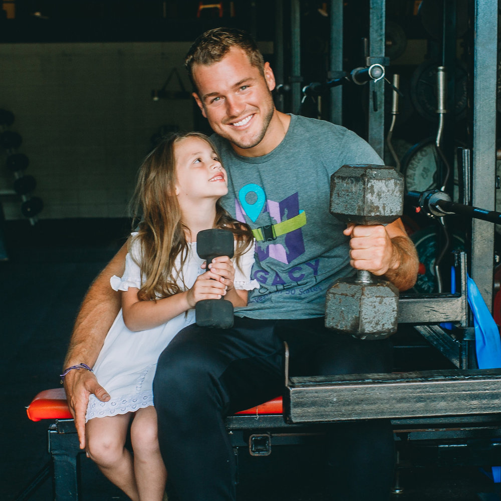 Colton Underwood & his cousin, Harper, who has Cystic Fibrosis and is the reason he started the foundation!