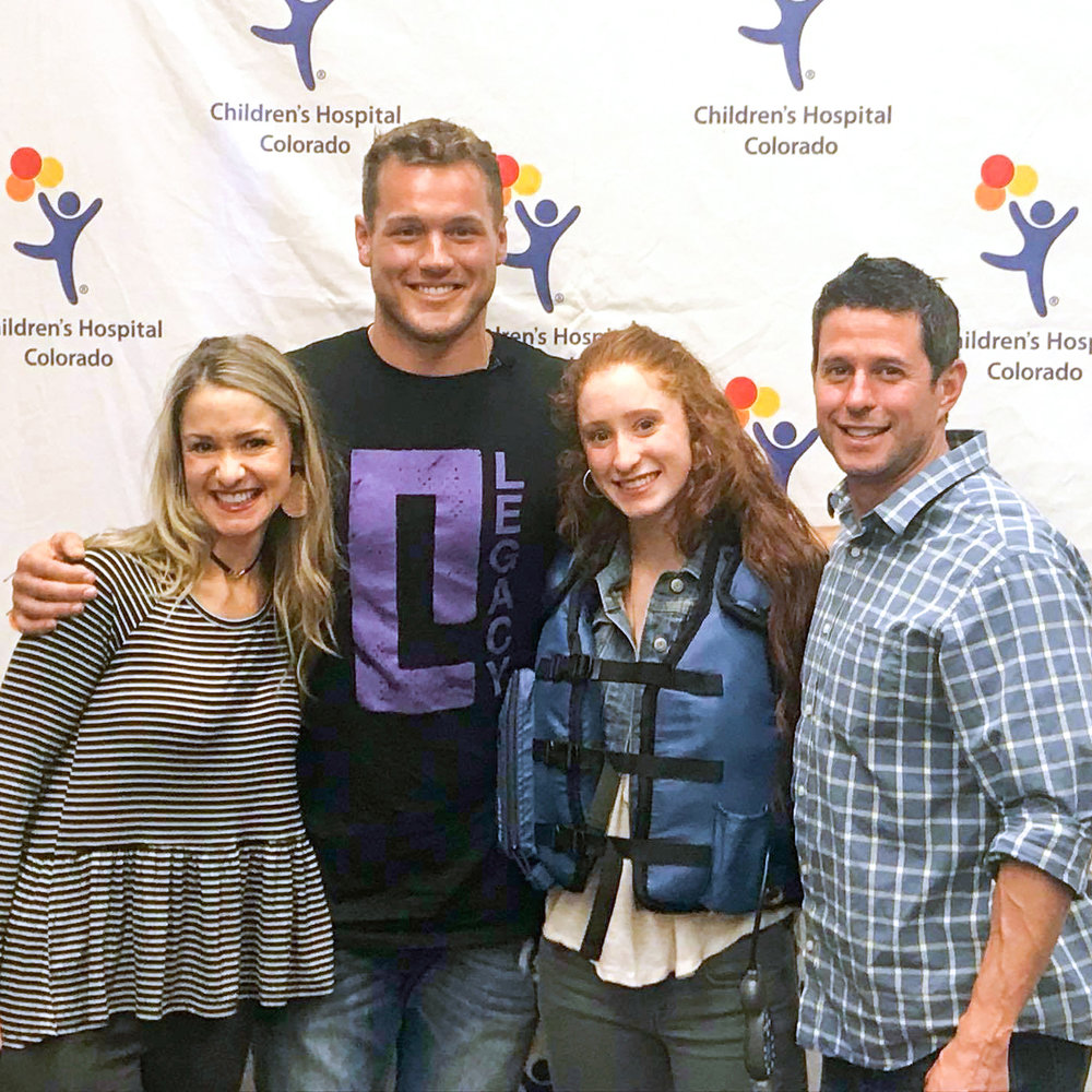 Colton surprising AffloVest recipient, Ali from Colorado through The Legacy Project!