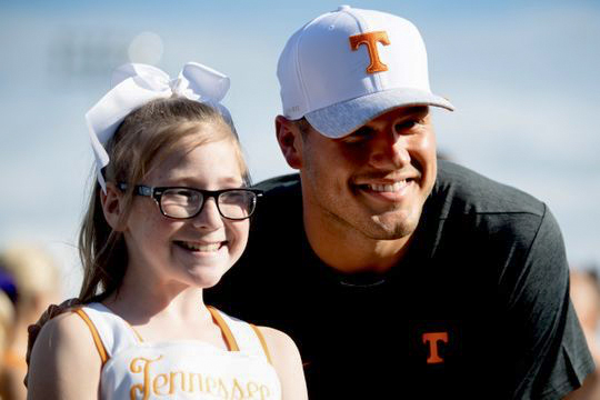 One of the Legacy Project's Tennessee winners, Molly Stephens with Colton Underwood.