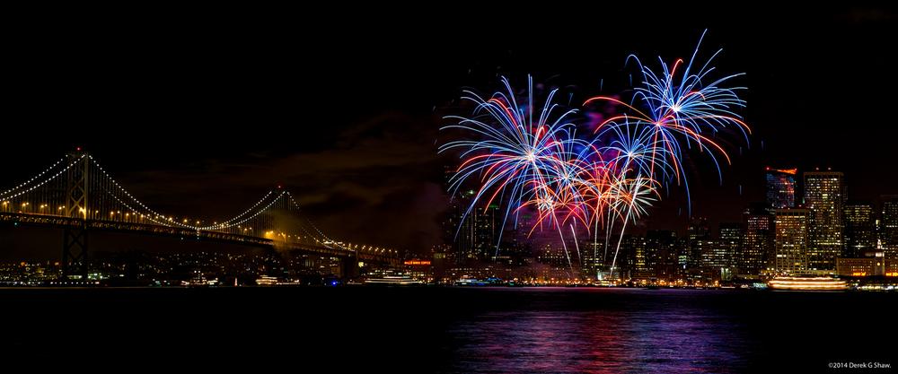 San Francisco Fireworks NYE 2013/2014