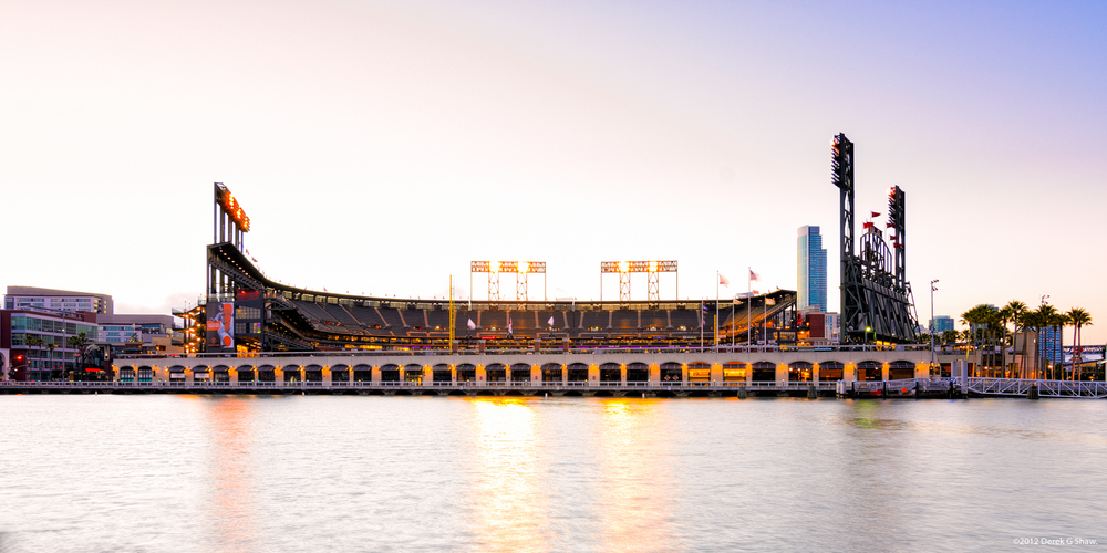 AT&T Park at Sunset