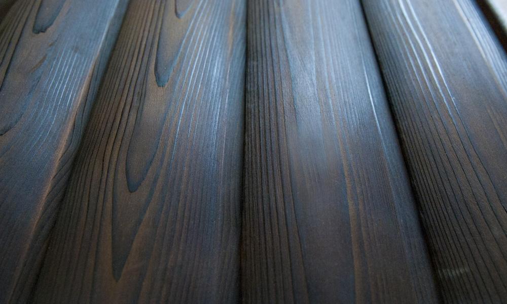 Charred & Brushed Cedar Photo: Jean Cramer