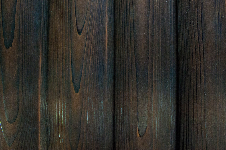 Cedar-charred & brushed