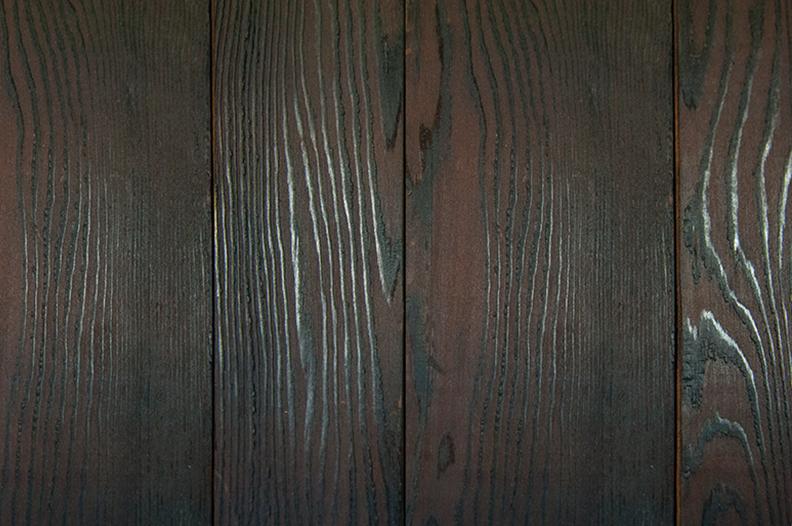 Douglas fir-charred & brushed