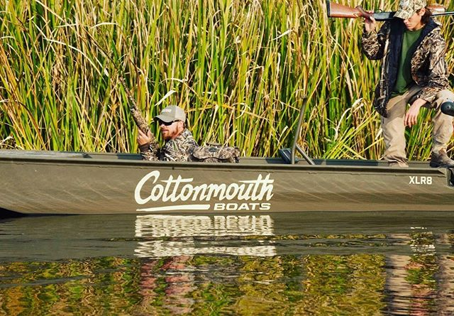 Get out of the office...but stay in the weeds. #cottonmouthboats #huntingseason