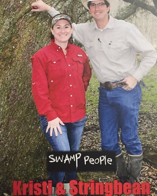 Come out tomorrow between 12-2 to get some autographs. We will have Kristi and Stringbean from Swamp People.  Booth #7107  #bossdrive #bowfishing #cottonmouthboats #minnkotamotors #hondamotors #suzukimotors #huntinglife #freedomoutboardmotor #louisianasportsmanshow #fishing #boats #swamppeople #kristiandstringbean