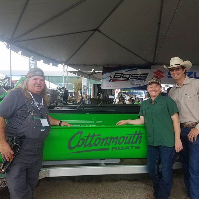 Our shop is closed today but come see our guys at the Louisiana Sportsman Show at Lamar Dixon. We've got the new HOSS and BOSS motors out here. Come get your new boat and new motor in time for your hunting season.  #cottonmouthboats #hossmotors #bossdrive #swamppeople #gatorhunting #louisianasportsmanshow #minnkotamotors #bowfishing #mudboat #duckhunting #mcclaintrailers #diamondcitytrailers
