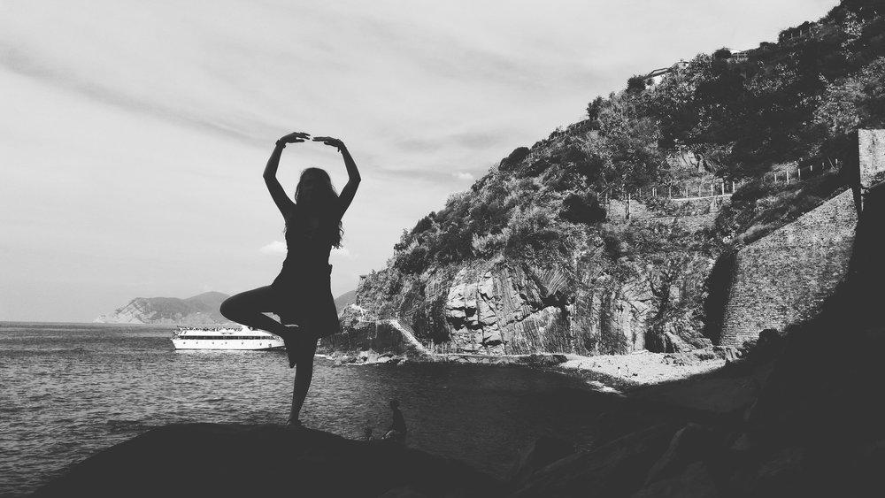 Getting Zen in Riomaggiore.