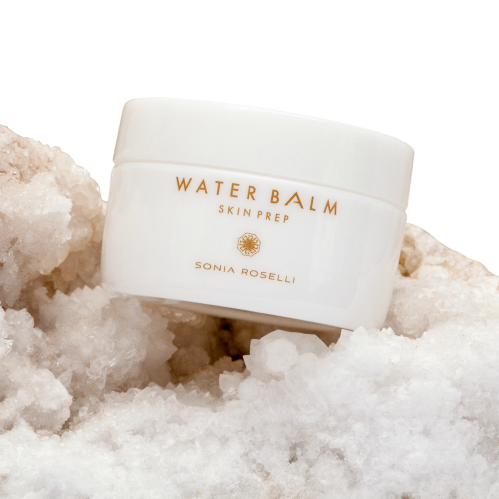 Water Balm - is your day cream, night cream, serum, eye cream and makeup primer all in one.** My note- Amazing gel Japanese water product I use on almost all my clients and myself for skin prep... its a unique product for sure... leaves no greasy residue and it feels cooling and light on your skin...