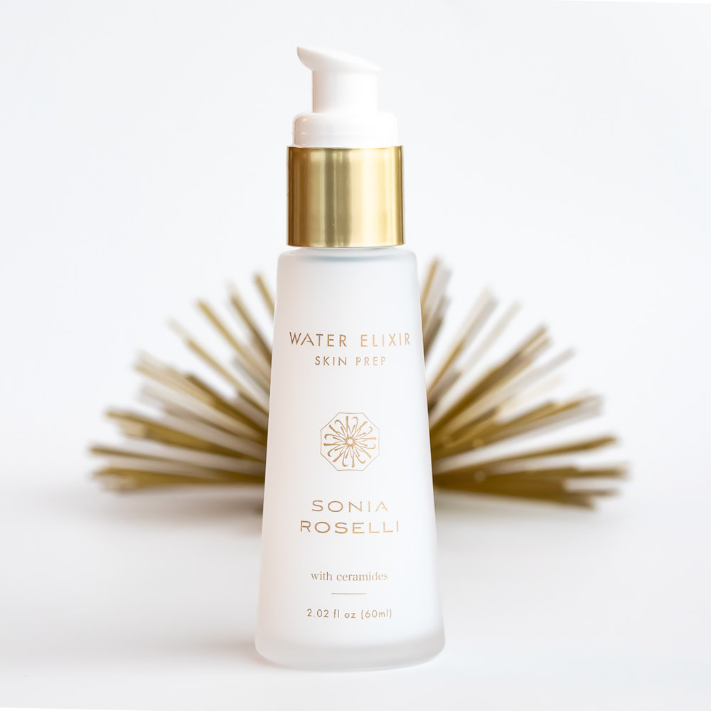 Water Elixir Skin Prep - A lightweight, liquid moisturizer and serum in one that helps repair a compromised skin barrier. If yourmakeup never lays right on your skin, a broken down skin barrier may be to blame  ** My Note- I use this every day on my own skin… soaks right in, makes my skin feel great and looks hydrated and soft.