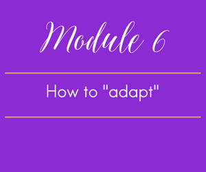 "Module 6. A Message from the first lady. How to ""adapt"" a recipe without plagiarizing."
