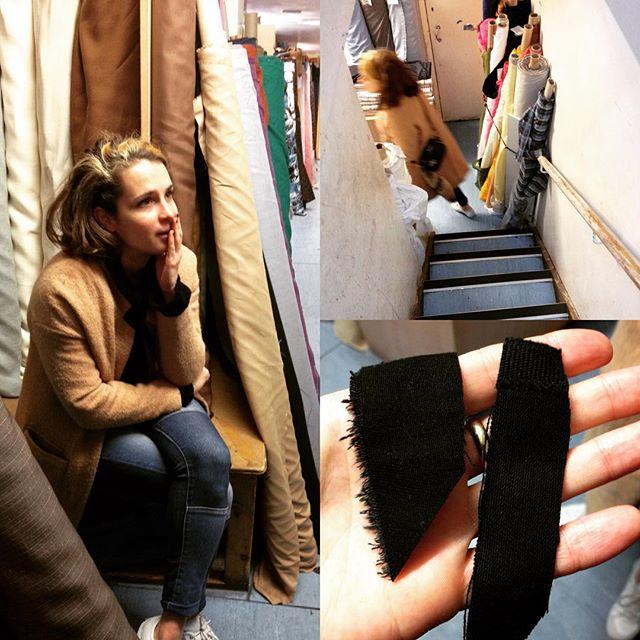 Finding juuuust the right colour of black #costume #set #rehearsal #shepherdsbush #fabric #london