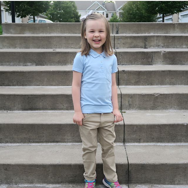 Cutie in our School Uniforms! Check out @thedodgefamily and see what they say about our #CherokeeUSA uniforms and a chance to win School Uniforms! 🤗📚 #CherokeeFeelsGood