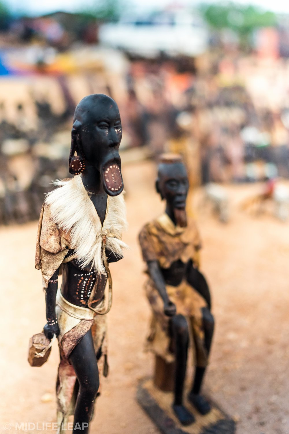 Wooden statues of the Mursi Tribe