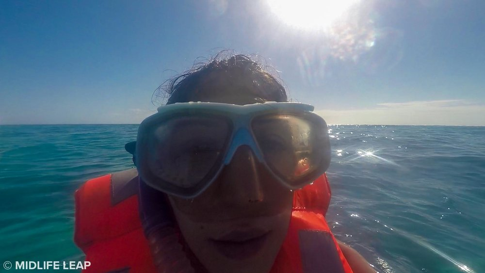 Mastering the art of looking ridiculous while snorkeling