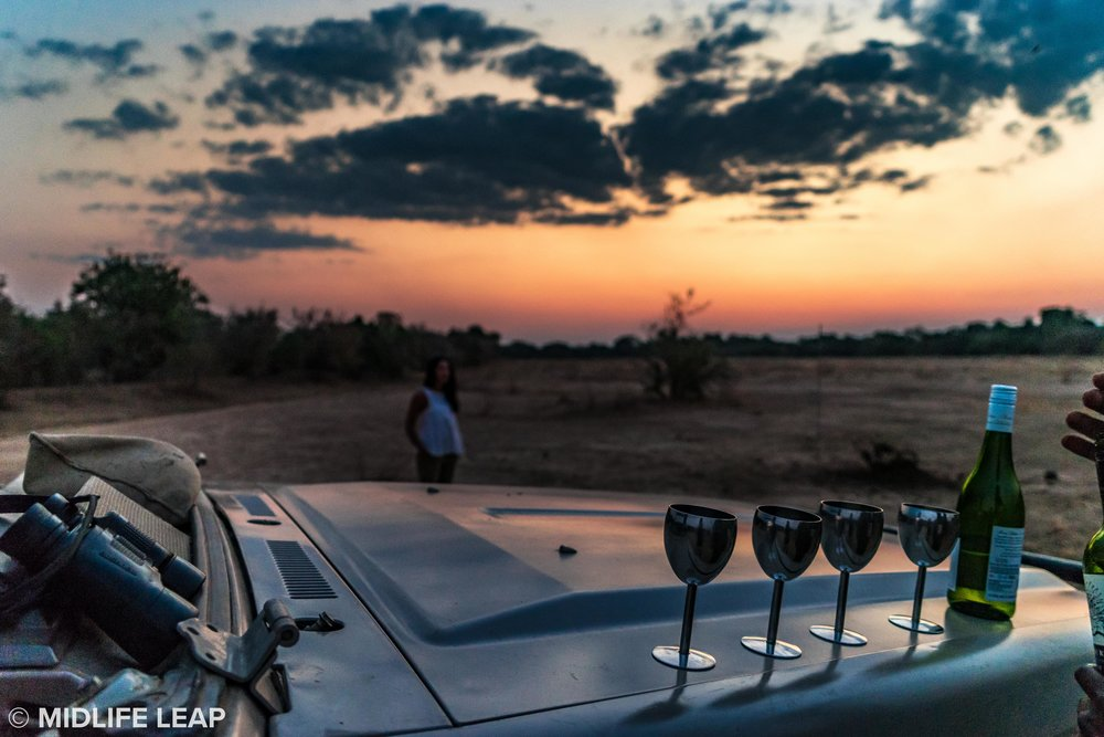 A beautiful sundowner in South Luangwa Park with Remote Africa Safaris