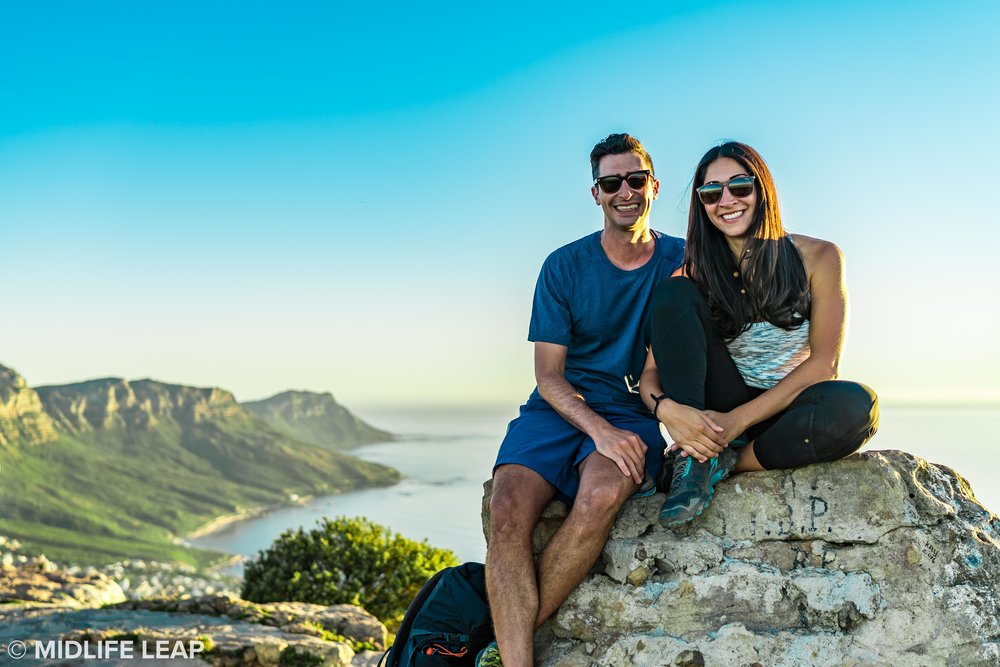 The only non-blurry picture we have of us at the top of Lion's Head