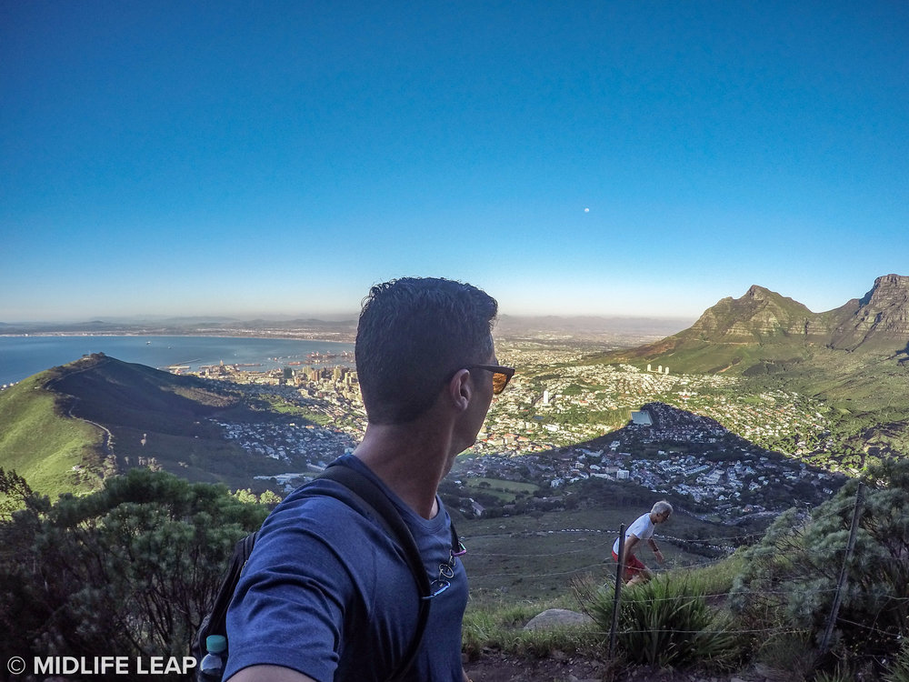 Hiking up Lion's Head
