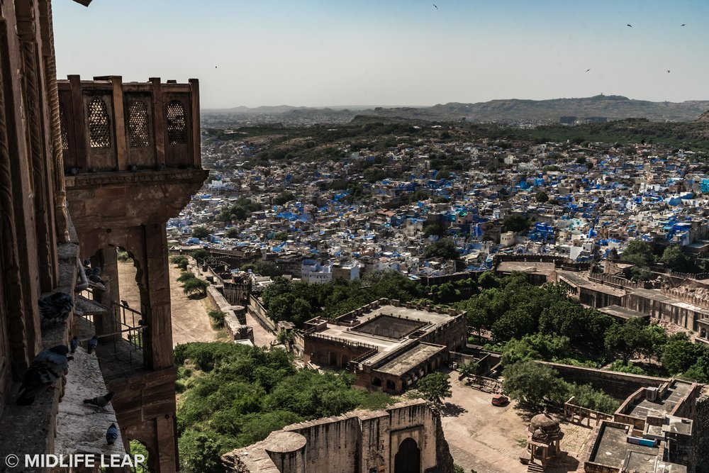 The Blue City from Mehrangarh Fort