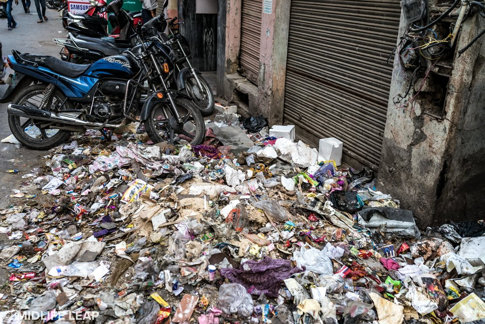 Piles of trash at every corner