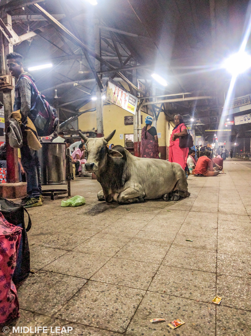 Waiting on the train in Varanasi